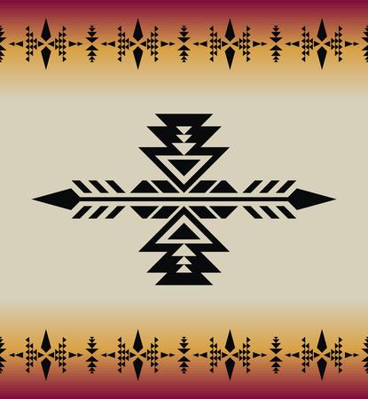 Patrón transparente geométrico azteca. Sudoeste nativo americano, impresión india. Papel pintado de diseño étnico, tela, tapizado, textil, tejido, envoltura.