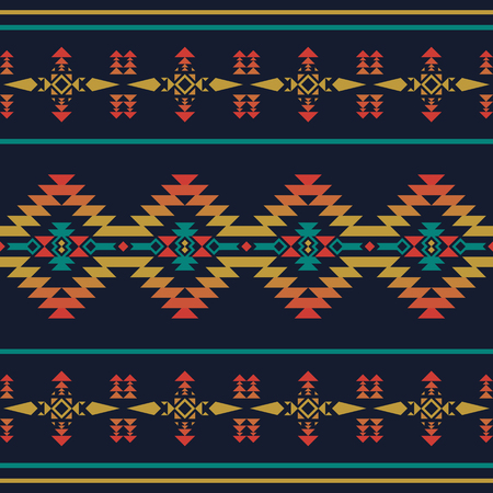 Aztec geometric seamless pattern. Native southwest american, indian print. Ethnic design wallpaper, fabric, cover, textile, weave, wrapping. Illustration