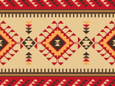 Ethnic seamless pattern. Kilim carpet. Can be used as wall and floor carpets, bedspreads, tablecloths, carpets, as an element of decor, etc.