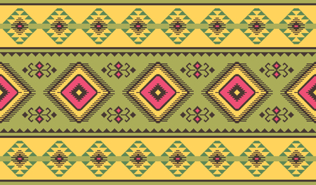 Ethnic seamless pattern. Kilim carpet. Can be used as wall and floor carpets, bedspreads, tablecloths, carpets, as an element of decor, etc. Illustration