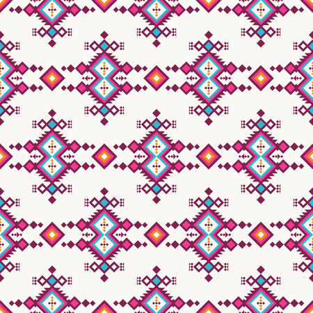 Ethnic seamless pattern. Tribal geometric print for decoration packaging, fabric, etc.
