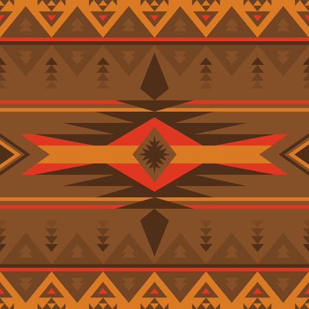 Ethnic seamless pattern. Native Southwest American, Indian, Aztec textiles. Navajo and Pueblo print.
