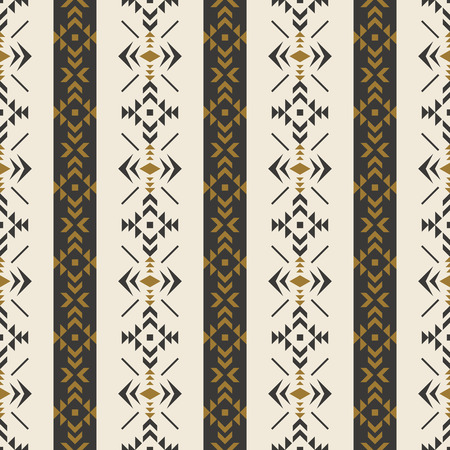 Aztec geometric seamless pattern. Native Southwest American, Indian print. Ethnic design wallpaper, fabric, cover, textile, weave, wrapping. Ilustración de vector