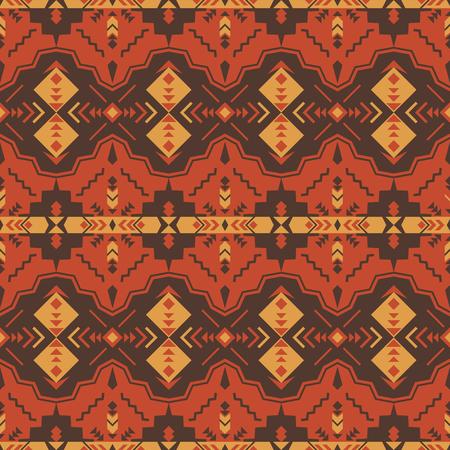 Patrón transparente geométrico azteca. Nativo del suroeste americano, estampado indio. Papel pintado de diseño étnico, tela, tapizado, textil, tejido, envoltura.