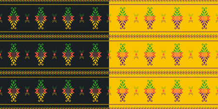 Set of Mexican seamless patterns. Cambaya fabric. Latin American colorful textiles. Fiesta decoration.