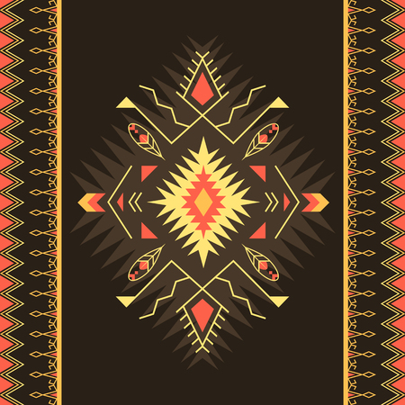 Aztec geometric seamless pattern. Native American, Indian Southwest print. Ethnic design wallpaper, fabric, cover, textile, weave, wrapping. 版權商用圖片 - 127169235