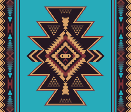 Aztec geometric seamless pattern. Native American, Indian Southwest, Navajo print. Ethnic design wallpaper, fabric, cover, textile, weave, wrapping.