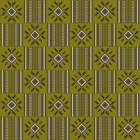 Textile fashion African print. Tribal seamless pattern. Cloth Kente. Geometric design.