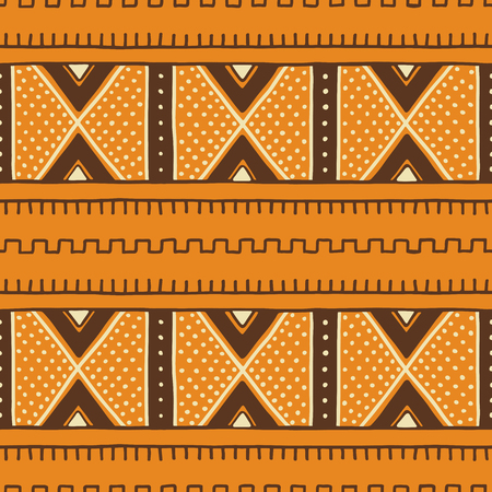 Tribal seamless pattern. Traditional African mud cloth, bogolan. Иллюстрация