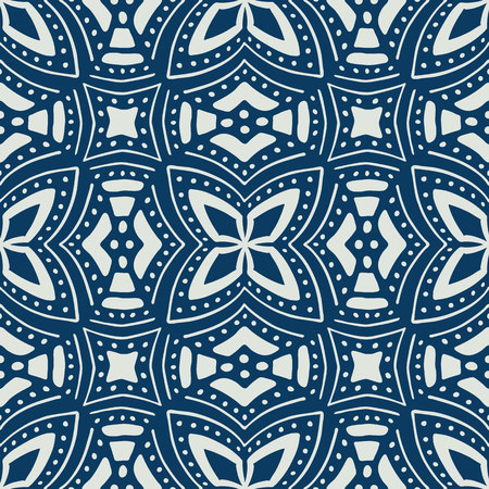 Ethnic seamless pattern. African textile. Vector tribal art. 向量圖像