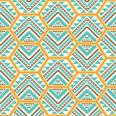 Ethnic seamless pattern. Aztec, Navajo, Boho print. Geometric design. Patchwork tile.