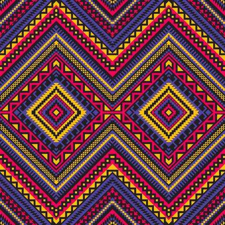 Ethnic geometric ornament. Aztec, Mexican, Navajo, African seamless pattern. Tribal folk art.