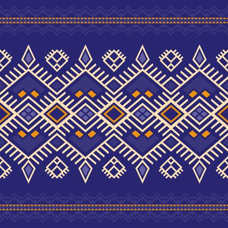 Modelo inconsútil étnico con motivos aztecas, marroquíes, bereberes, mexicanos. Kilim tribal. Diseño geométrico. Ilustración de vector