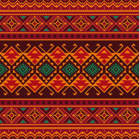 Modelo inconsútil étnico con motivos aztecas, marroquíes, bereberes, mexicanos. Kilim tribal. Diseño geométrico.