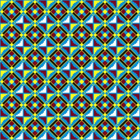 Textile fashion African print. Tribal seamless pattern. Cloth Kente. Geometric design. 版權商用圖片 - 125225407