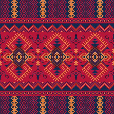 Etnische naadloze patroon. Tribale kilim. Mexicaanse, Azteekse, Turkse geometrische print. Vector Illustratie