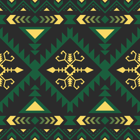 Ethnic seamless pattern. Tribal kilim. Mexican, Aztec, Turkish geometric print.