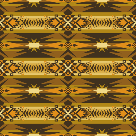 Aztec geometric seamless pattern. Native American, Indian Southwest print. Ethnic design wallpaper, fabric, cover, textile, rug, blanket. Vectores