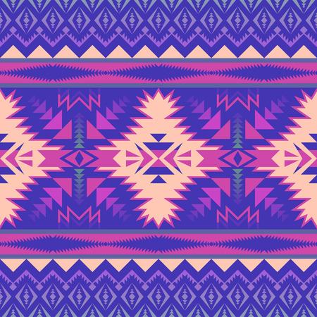 Aztec geometric seamless pattern. Native American, Indian Southwest print. Ethnic design wallpaper, fabric, cover, textile, rug, blanket. Illustration