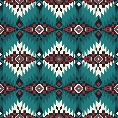 Patrón transparente geométrico azteca. Impresión del sudoeste indio nativo americano. Papel pintado de diseño étnico, tela, funda, textil, alfombra, manta.