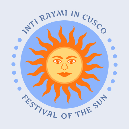 Religious festival Inti Raymi. Inca celebration of the Sun. Pagan holiday in Peru.