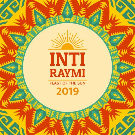 Festa religiosa Inti Raymi. Celebrazione inca del sole. Vacanza pagana in Perù.