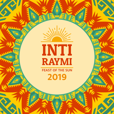 Religious festival Inti Raymi. Inca celebration of the Sun. Pagan holiday in Peru. 版權商用圖片 - 122837780