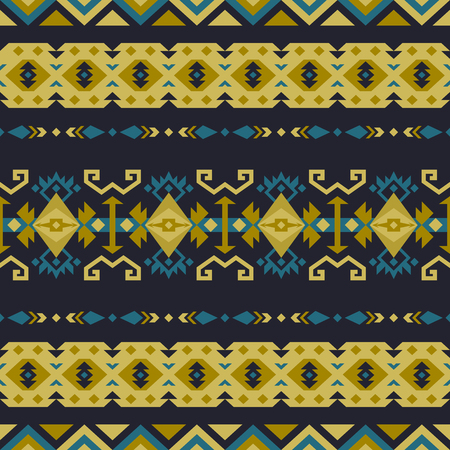 Aztec geometric seamless patterns. Native American, Indian Southwest print. Ethnic design wallpaper, fabric, cover, textile, rug, blanket.