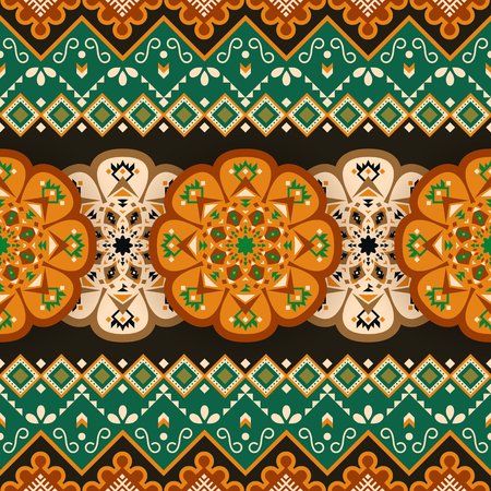 Mexican geometric seamless pattern. Aztec circular print. Ethnic design wallpaper, fabric, cover, textile, wrapping, blanket.
