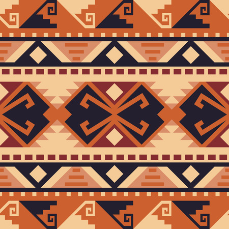 Ethnic seamless pattern. Native Southwest American, Indian, Aztec textiles. Tribal  print.