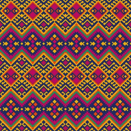 Tribal seamless pattern with geometric ornament. Mexican, Peruvian fabric. 向量圖像