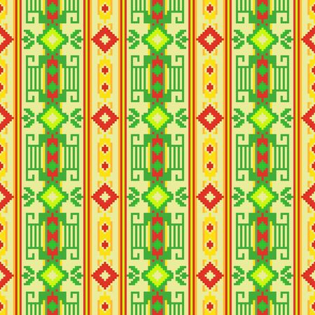 Ethnic seamless pattern with geometric ornament. Mexican, Peruvian, Slavic textiles. Иллюстрация
