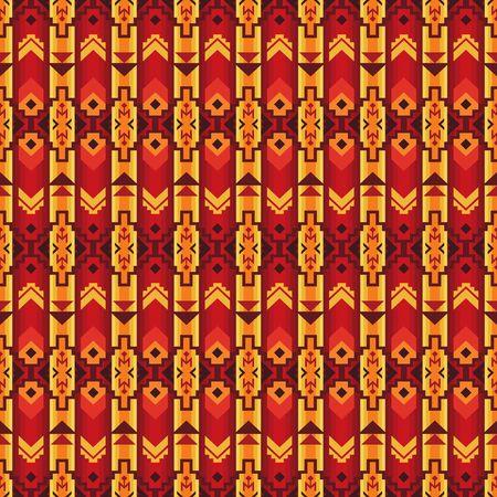 Ethnic seamless pattern. Native Southwest American, Aztec textiles. Navajo print. 版權商用圖片 - 128204223