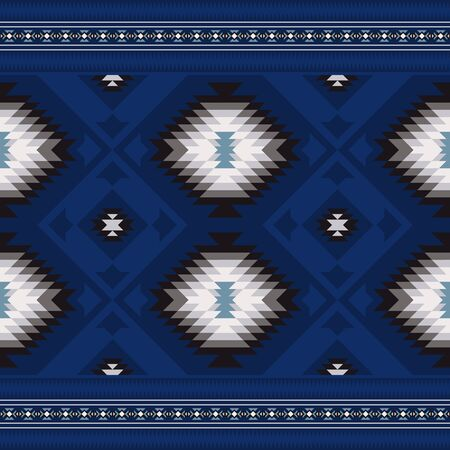 Native American Southwest geometric design fabric. Ethnic seamless pattern.