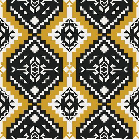 Native Southwest American, Aztec, oriental, geometric seamless pattern. Tribal print. Ethnic design fabric, textile, blanket, rug, etc.