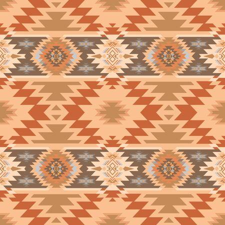 Azteca, Navajo geométrico de patrones sin fisuras. Impresión del sudoeste nativo americano. Papel pintado de diseño étnico, tela, funda, textil, alfombra, manta.