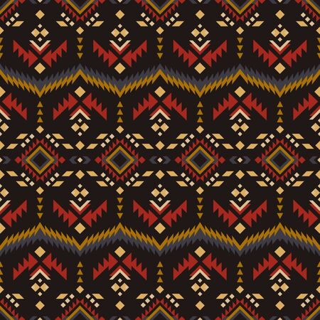 Aztec, Navajo geometric seamless pattern. Native American Southwest print.  Ethnic design wallpaper, fabric, cover, textile, rug, blanket.