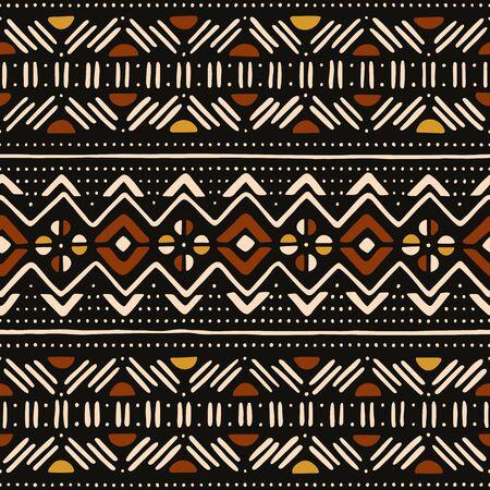Stammes-nahtloses Muster. Traditionelles afrikanisches Schlammtuch.