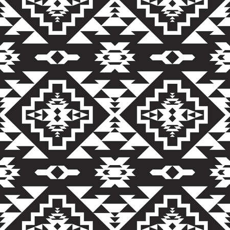 Native American Southwest, Aztec, Navajo seamless pattern. Tribal geometric print. Ethnic design wallpaper, fabric, cover, textile, rug, blanket.