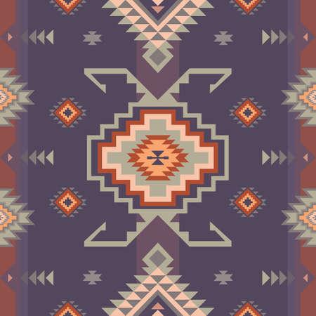 Native American Southwest, Aztec, Navajo seamless pattern. Tribal geometric print. Ethnic design wallpaper, fabric, cover, textile, rug, blanket. Vector Illustratie