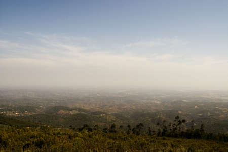 The beautiful landsape in mountains of Algarve  Stock Photo