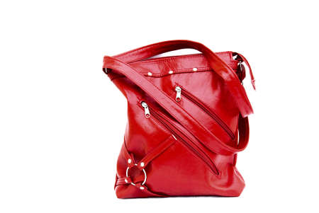 The red bag isolated on the background  Stock Photo