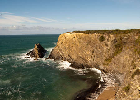 magnific: Magnific Cliffs of Portugal in Atlantic ocean Stock Photo