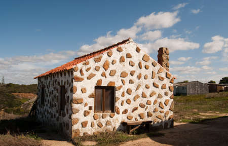 The White house in village of Portugal Stock Photo