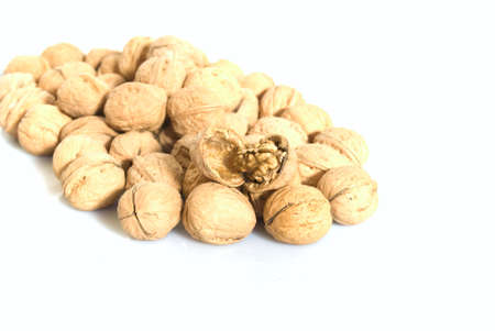 The Walnuts  isolsted on the white background