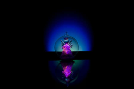 buble: The color Glass angel in the buble