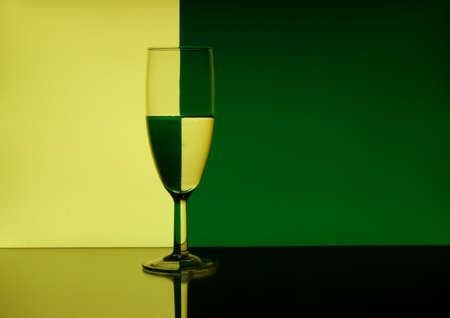 allegory painting: Wine Glass Refraction Pattern