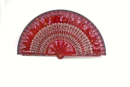 A beautiful red hand-painted fan from Spain