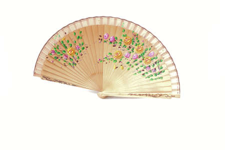 A beautiful hand-painted fan from Spain Stock Photo