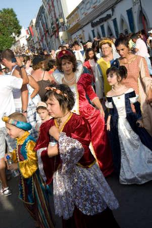 perfomance: CASTRO MARIM,POTUGAL- AUGUST 26,2010: Mediaval perfomance in Casrto Marim, Portugal, 26 August 2010-